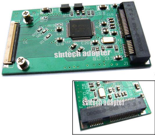 Mini PCI-E mSATA SSD to 40pin ZIF Adapter Card